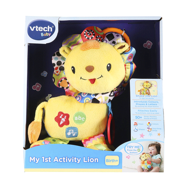 "The [VTech My 1st Activity Lion Toy](https://www.kmart.com.au/product/vtech-my-1st-activity-lion-toy/925825|target=""_blank""
