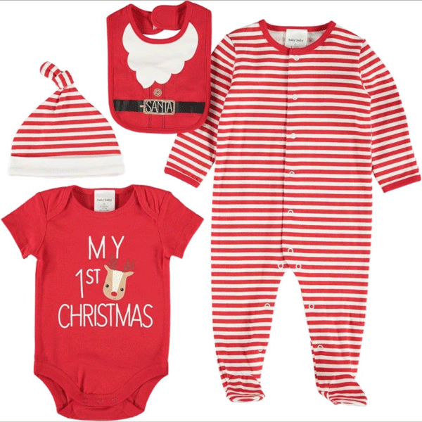 "Celebrate your baby's first Christmas by making sure they look the part. The [Baby Christmas Startpack from Best&Less](https://www.bestandless.com.au/Categories/Baby-Clothes-%26-Essentials/Baby-Gifts-%26-Toys/Baby-Gifts-and-Hampers/Baby-Christmas-Starterpack/62014_943026_RED_TRUE_RED_XMAS_XMAS|target=""_blank""