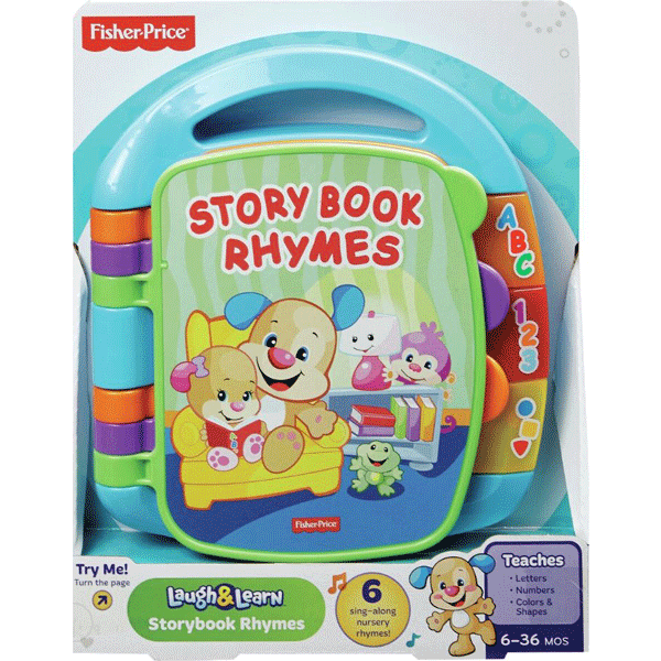 "[Fisher-Price Laugh & Learn Story Book Rhymes](https://www.bigw.com.au/product/fisher-price-laugh-learn-storybook-rhymes-pink/p/677135/|target=""_blank""