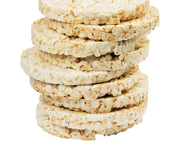 Rice cakes are entirely made up of carbohydrates which can increase your blood sugar levels.