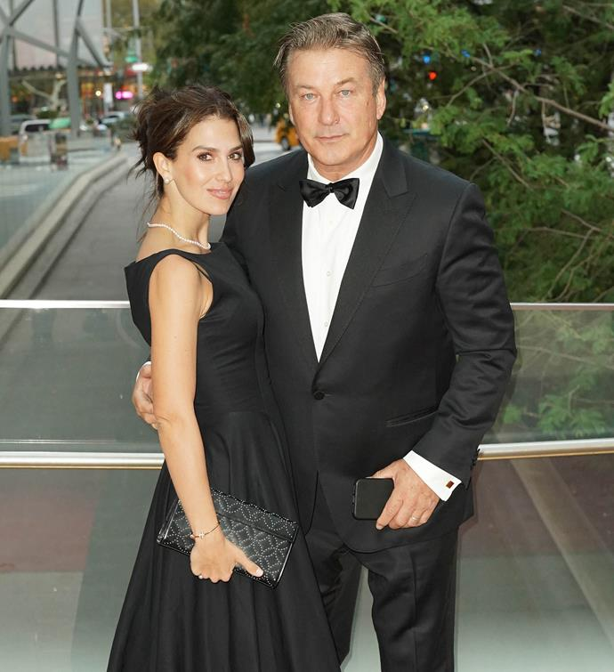 Hilaria and Alec Baldwin pictured at an event together in New York City in October.