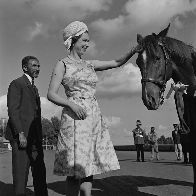The Queen is known to be passionate about horses.