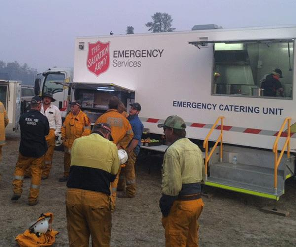 The Salvation Army Emergency Services (SAES) teams are responding to the devastating bushfires.