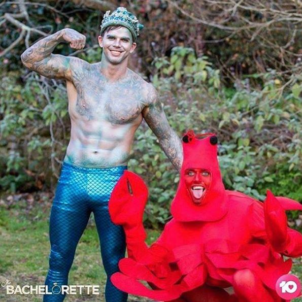 Timm got served a raw deal during the group photoshoot, landing the lobster costume while Matt Whyatt got to be Angie's mermaid king.  <br><br> He handled the 'stitch up' with humour, even cracking up Angie with his on-set antics.