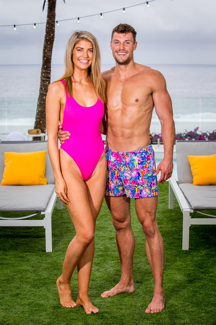 Their first official matching swimsuit photo. Now that's one for the album!