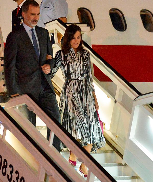 King Felipe and Queen Letizia touched down in Cuba looking ready to tackle the four-day tour.