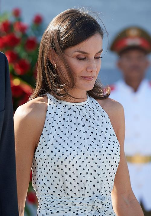 The royal wore her enviable tresses out, which was probably a tactical move given the breeze on the day.