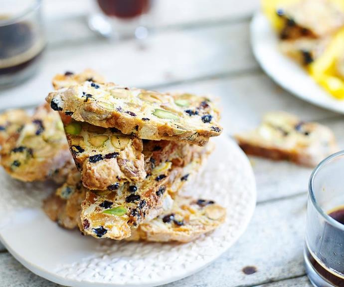 "**Sugar-free biscotti with dried fruit** <br><br> This guilt-free biscotti is perfect with a cuppa. Packed with dried fruit and no added sugar, you can have your treat and eat it too! <br><br> *See the full Australian Women's Weekly recipe [here](https://www.womensweeklyfood.com.au/recipes/sugar-free-biscotti-with-dried-fruit-28534|target=""_blank""