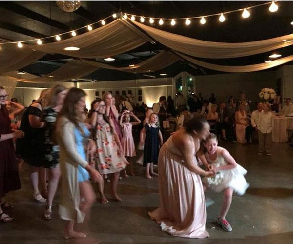 "Bouquet toss <br><br> Maid of honour Amber Wiser thought she had the bouquet toss in the bag, until this 10-year-old girl fought her for it. ""Please, I'm 24,"" Amber wailed, but her pint-sized competitor was unrelenting.  <br><br> Finally, after Amber gave up, the girl's mum ordered her daughter to give it back. <br><br>"