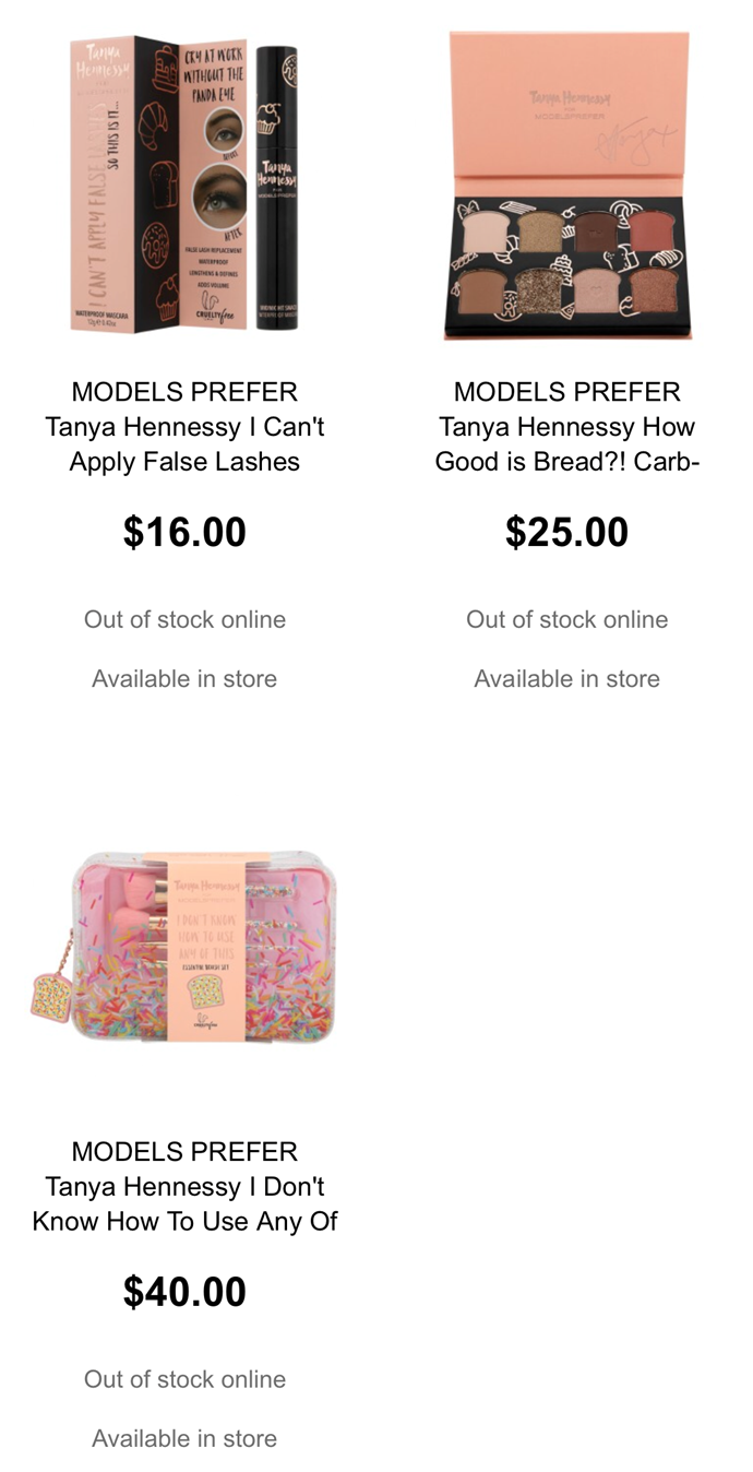 A screenshot from Priceline's website on Friday morning showed all of the products had completely sold out online.