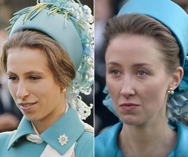 Princess Anne is depicted in *The Crown* engaging in a romantic relationship with Andrew Parker Bowles - whilst he is still seeing Camilla.