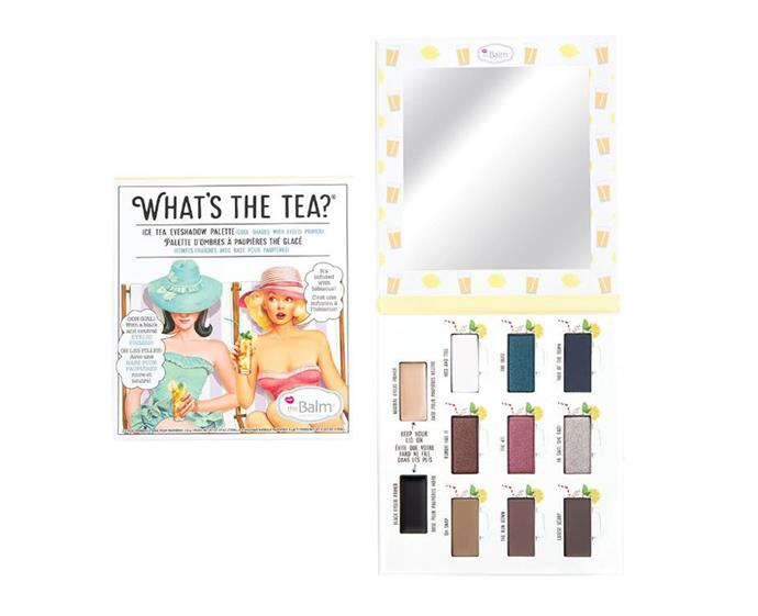 "**The Balm What's The Tea? Ice Tea palette, $10 at [Target](https://www.target.com.au/p/thebalm-what-s-the-tea-ice-tea/62520348|target=""_blank""