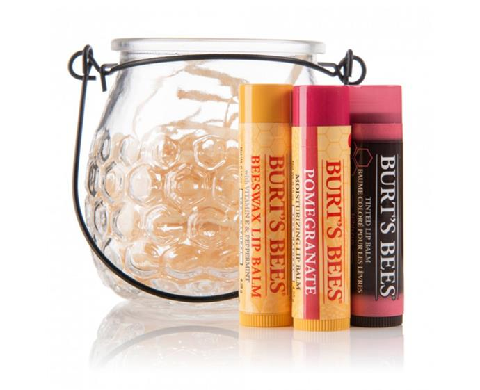 "**Burt's Bees Treat Pot, $14.99 at [Priceline](https://www.priceline.com.au/brand/burts-bees/burts-bees-treat-pot-4-pack|target=""_blank""