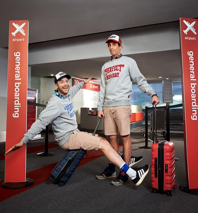 """Hamish Blake and Andy Lee set off on their """"perfect"""" holiday."""