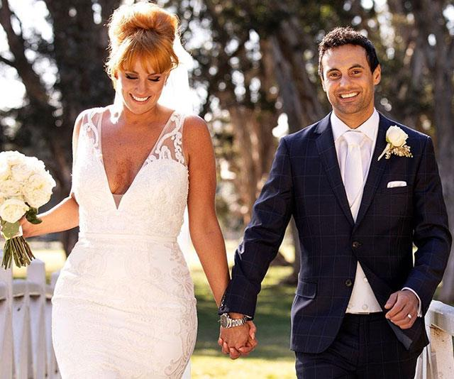 """**Love at first sight** <br><br> Meeting for the first time at [their *Married At First Sight* """"wedding"""" in January](https://www.nowtolove.com.au/reality-tv/married-at-first-sight/jules-robinson-cameron-merchant-still-together-53793 target=""""_blank""""), Cam Merchant and Jules Robinson were instantly smitten. """"She's absolutely stunning. Straight away beautiful smile!"""" remarked Cam."""