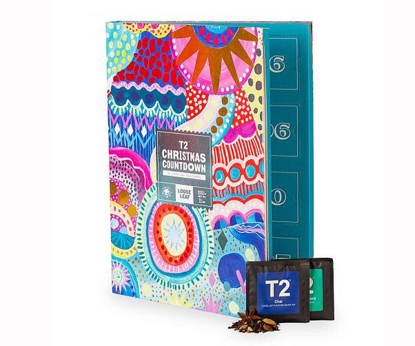 """**T2 Tea Christmas Countdown Advent Calendar Teabags**  <br><br> If you're a tea lover who just can't do without your daily cup of tea, this calendar from delicious tea specialty store T2 is perfect! <br><br> $40 from [T2 online](https://www.t2tea.com/en/au/what-s-new/new-teas/christmas-countdown-advent-calendar---teabags-T145AK507.html?gclid=Cj0KCQiAn8nuBRCzARIsAJcdIfOlXwy-a3p9lQoaKtEs-jMT99rYl2vzFF2yW7gGbTUi7cv8H9gpF7YaAunIEALw_wcB&gclsrc=aw.ds