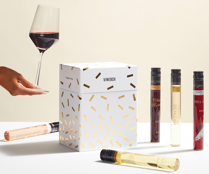 "**Vinebox's 12 Nights of Wine, $129 from [getvinebox.com](https://www.getvinebox.com/products/12-nights-of-wine-nice|target=""_blank""
