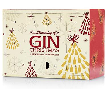 """**ALDI's The 12 Gins of Christmas**  <br><br> This genius gift box features 12 x 50ml bottles of gin, all packaged up perfectly in a cute Christmas-themed box.  <br><br> $60 from [ALDI stores](https://www.aldi.com.au/en/special-buys/special-buys-liquor/liquor-detail/ps/p/the-12-gins-of-christmas-gift-pack-12-x-50ml/