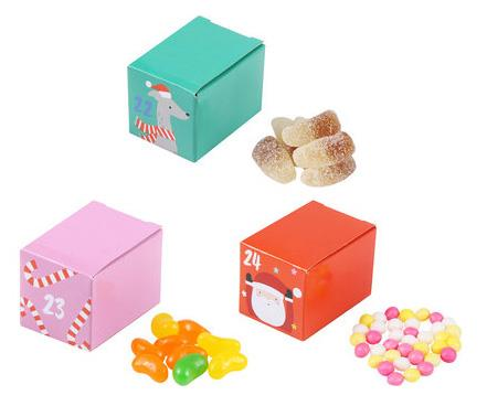 A close-up look at some of the lollies available in the Kmart Candy Advent Calendar.
