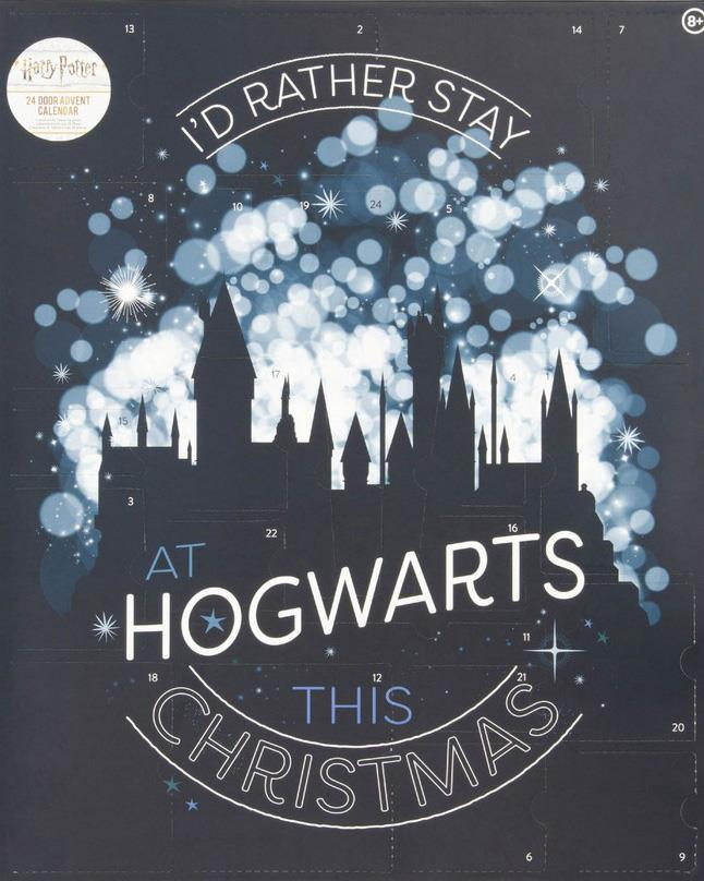 """**I'd Rather Stay At Hogwarts This Christmas Harry Potter Christmas Advent Calendar** <br><br> If you're a hardcore Harry Potter fan, you'll love receiving a piece of Harry Potter-themed memorabilia during every day of December, including laying cards, gadget decals, notebooks, pencils and erasers, as well as a wand-shaped pen, mimicking the exact design of Harry's own wand from the *Harry Potter* movies.  <br><br> $49 from [Myer](https://www.myer.com.au/p/harry-potter-harry-potter-advent-calendar