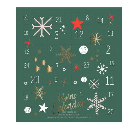 """**Kmart's Tealight Advent Calendar** <br><br> This lovely little calendar includes 24 Christmas-scented tealights and a votive holder to keep them in. The various flavours include pine tree, Christmas cookie and Prosecco fizz.  <br><br> $12 from Kmart stores and [online](https://www.kmart.com.au/product/tealight-advent-calendar/2750812