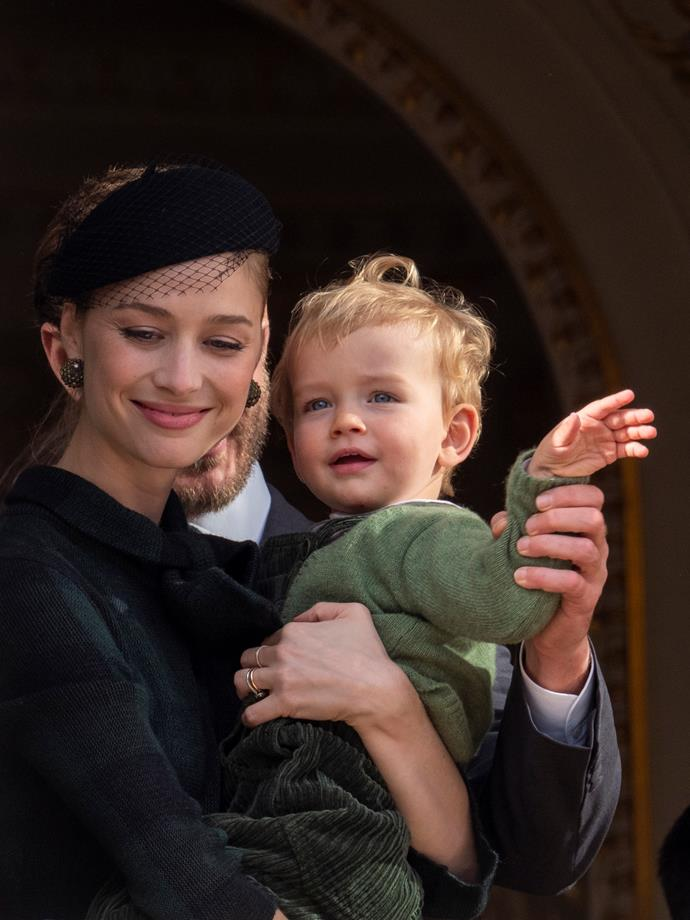 Beatrice Casiraghi and son Francesco were spotted alongside the other royals out and about on the National Day.