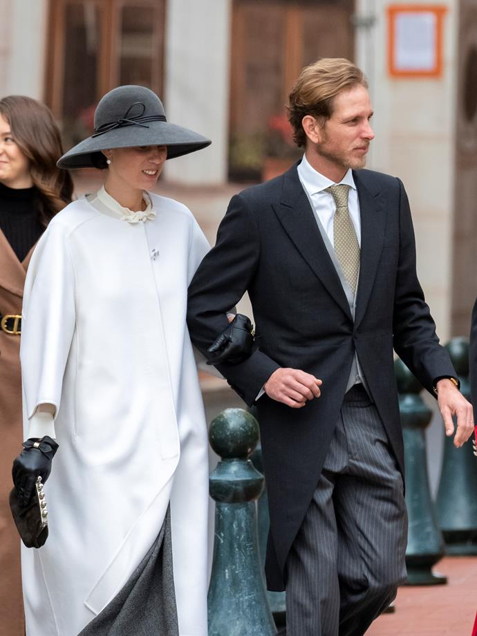 Tatiana Casiraghi also oozed effortless chic at the day's big event.