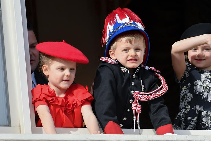 The young royals were naturals as they took to the balcony.