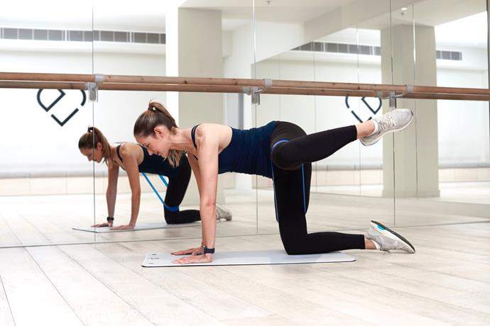 For killer glutes and gams try this Fire Hydrant move