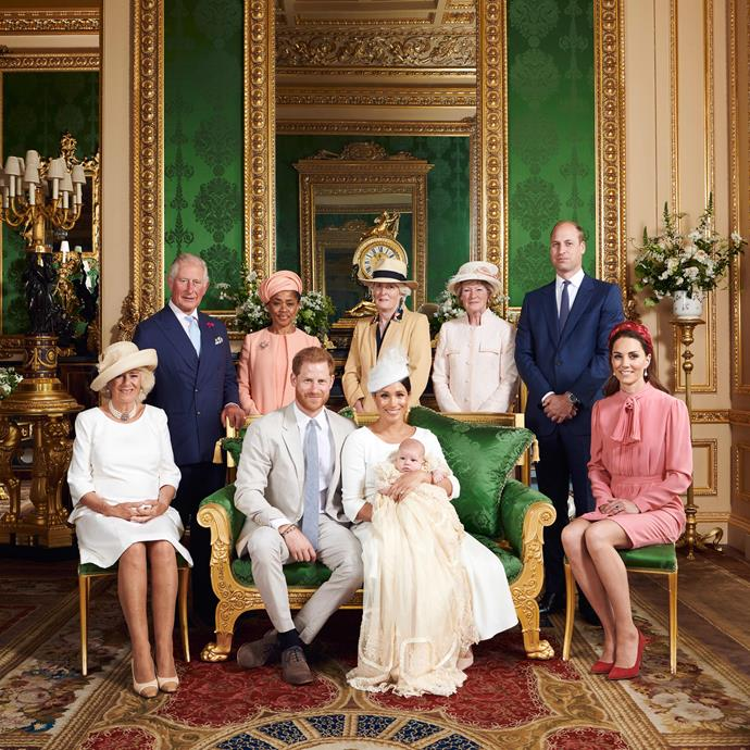 Archie's christening was attended by his royal family members, his grandmother Doria and his great aunts Lady Sarah McCorquodale and Lady Jane Fellowes, Princess Diana's sisters.
