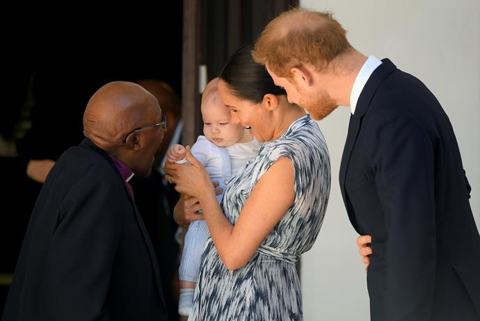 The little royal even met Nobel Peace Prize winner Archbishop Desmond Tutu, lucky Archie!