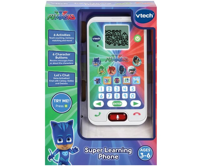 **PJ Masks Super Learning Phone, RRP $24.95:** If you have a toddler in the house, chances are you have a PJ Masks fan in the house! And there's no doubt that they'll be loving the range of PJ Masks toys available from Big W, toy stores and online retailers. Like this Super Learning Phone with voice-activated play, your little one can pretend to call their PJ Masks friends and develop listening and role-play skills with the six exciting activities. The three great built-in learning games help to develop skills with numbers, counting, matching and memory skills. There's even a photo album where you can see pictures of the PJ Masks!