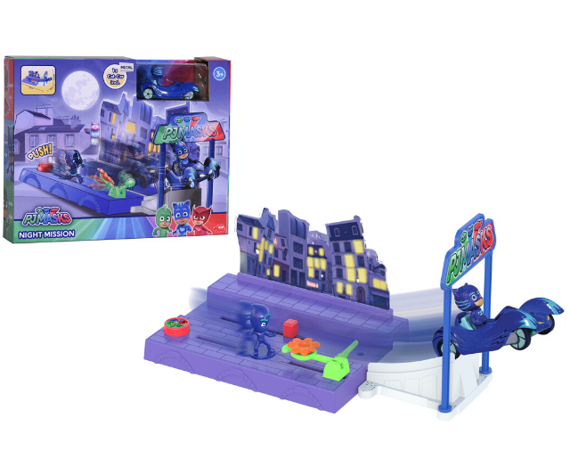 **PJ Masks Night Mission Track Set, RRP $39.95:** If you have a PJ Masks superfan, you can't go past this set which allows you to go on a PJ Masks adventure into the night to save the day with this range of cool die-cast Mission Racers. The vehicles feature lights and sounds, plus free moving wheels. Each comes with a matching non-articulated figure. Available in Catboy, Gekko and Owlette characters at Big W, selected Toyworld and Kidstuff stores, as well as Toys R Us online.