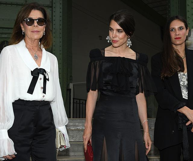 And in 2019, the Princess was pictured next to her stunning daughter Charlotte and daughter-in-law Tatiana Casiraghi in Paris. There's no denying it - Caroline is a timeless beauty.