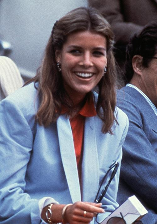That same year, the Princess looked oh-so-chic as she was snapped in this bold blue blazer.
