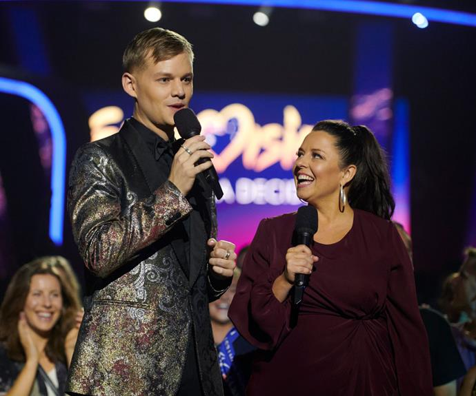 Joel Creasey and Myf Warhurst return as Eurovision hosts for SBS.