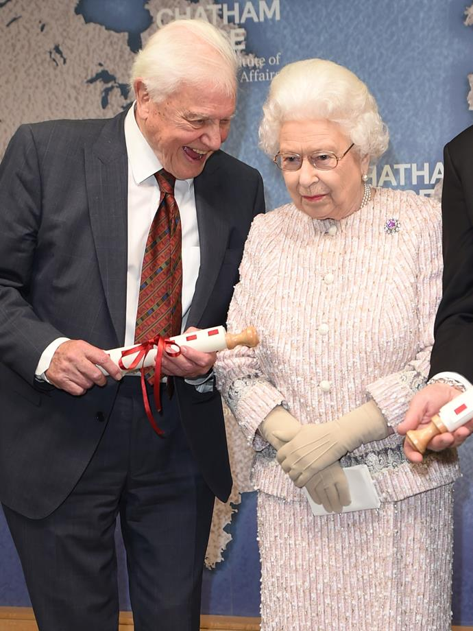Sir David and our reigning Monarch shared some sweet anecdotes.