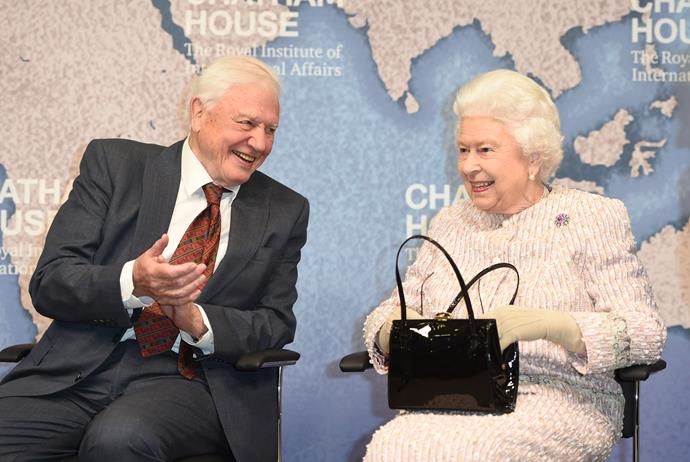 The Queen was all smiles at the event.