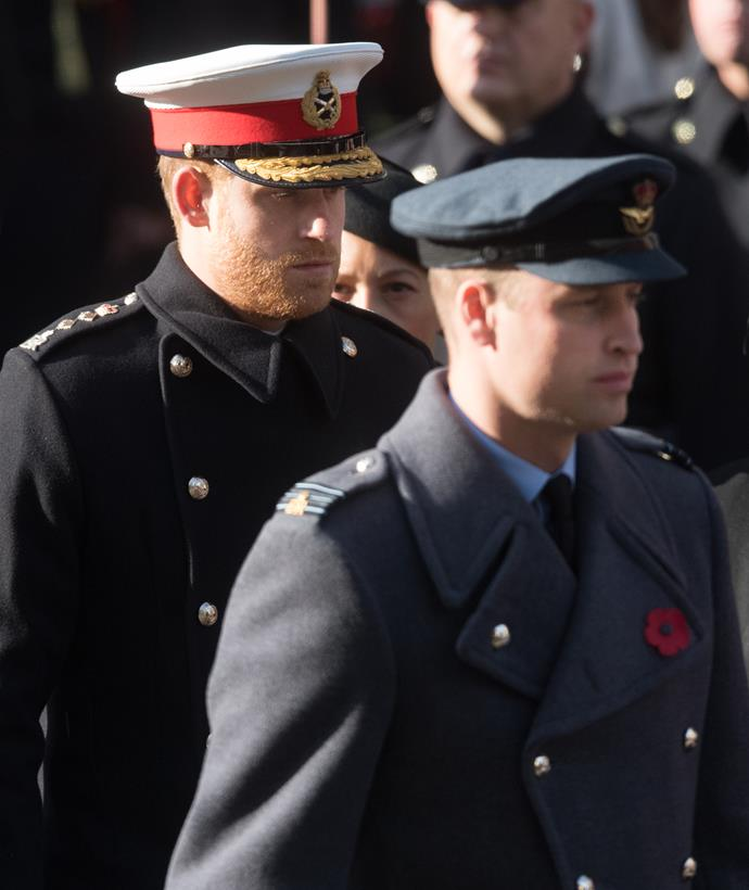 """Prince Harry referenced his strained relationship with his brother in the Africa documentary saying that due to the pressure of being in the royal family, """"inevitably stuff happens."""""""