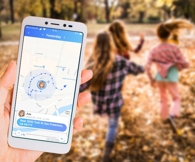 GPS tracking means parents can keep an eye on their child's whereabouts easily.