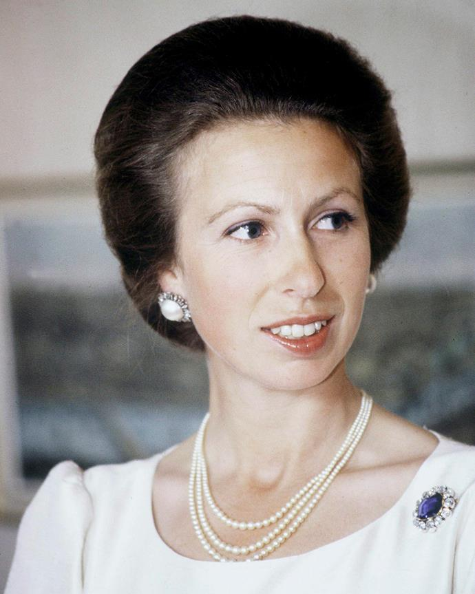 Princess Anne at a charity event in London in 1982.