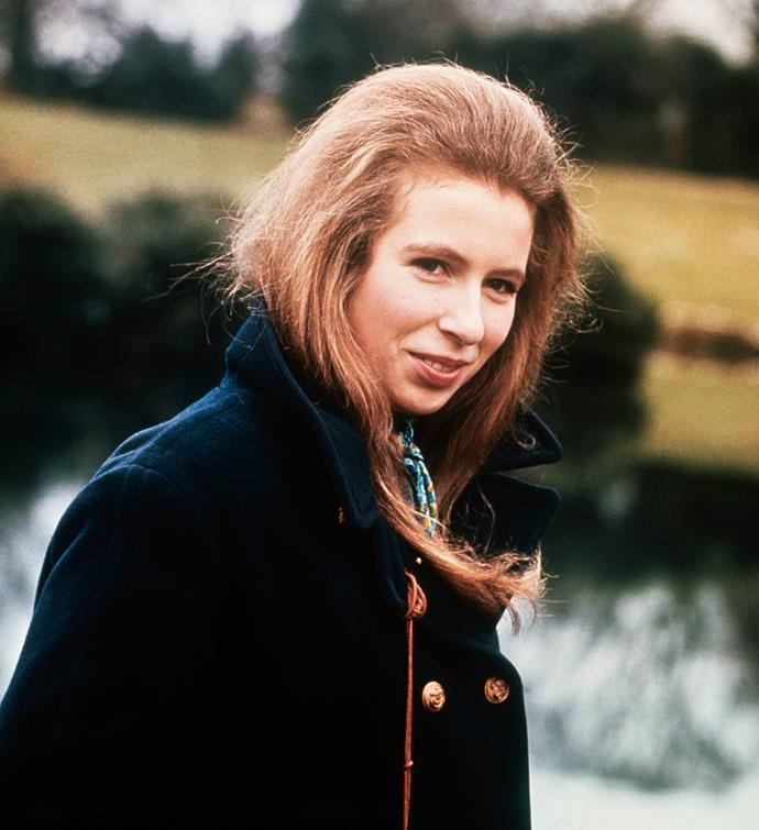 A gorgeous 19-year-old Princess Anne, pictured in 1970 at the royal family's estate in Sandringham.