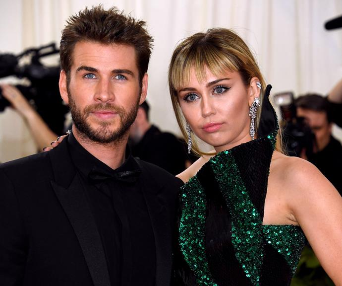 Miley and Liam announced their split in August. They're pictured here at the Met Gala in May.