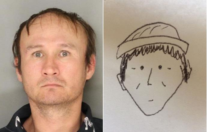 """Hung Phuoc Nguyen and the witness's sketch of his likeness.  Image credit: [Washington Post(https://news.yahoo.com/cops-identify-hung-phuoc-nguyen-173918140.html