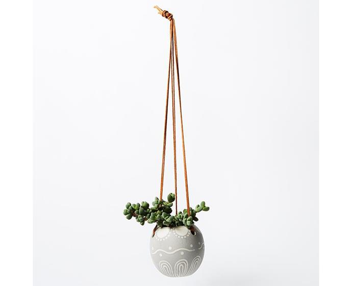 "**Have you met Miss Jones Hanging Planter, $26 at [Jones & Co](https://jonesandco.com.au/collections/pots-planters/products/hanging-planter-grey-1|target=""_blank""