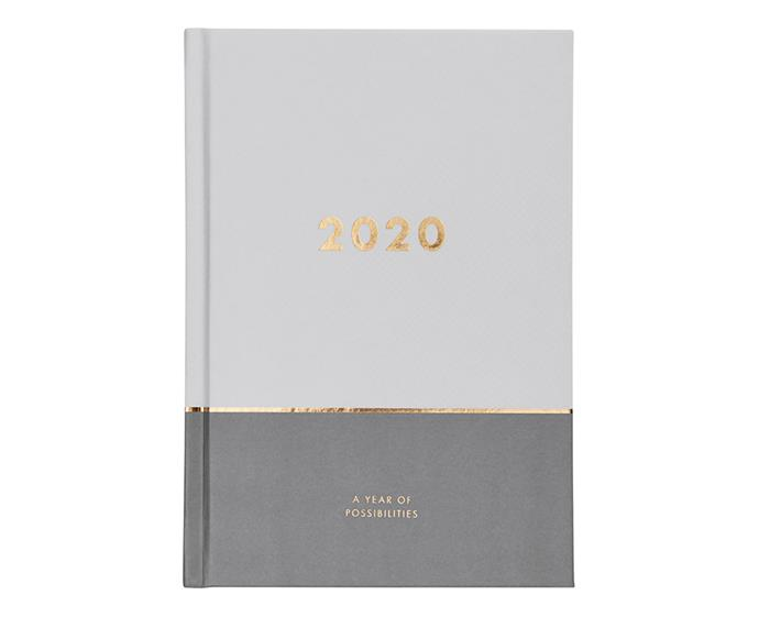 "**2020 Inspiration A5 Weekly Diary, $34.99 at [Kikki K](https://www.kikki-k.com/au/shop-by/2020-a5-weekly-diary-mist-grey-inspiration-11232301.html|target=""_blank""