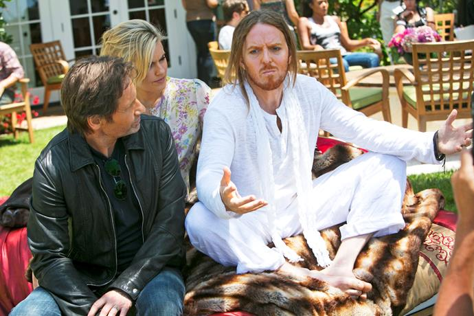 Tim starred as rock star Atticus Fetch in US drama *Californication*.