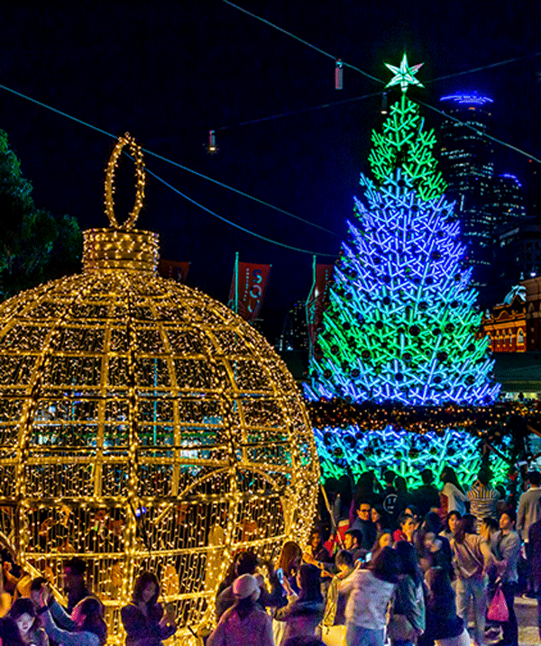 Get your festive fix at Federation Square, Melbourne.
