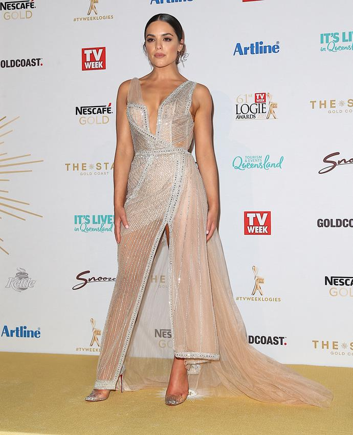 Olympia Valance arrives at the 61st Annual TV WEEK Logie Awards at The Star Gold Coast in June.