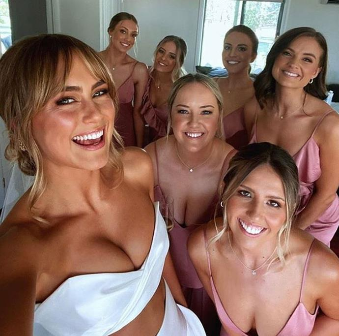 Steph shared a sweet snap with her bridesmaids from her wedding day.